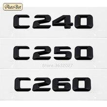 3D Chrome C240 C250 C260 Tail Letter Emblem Badge Sticker Decoration For Mercedes Benz C Class 190E W201 W202 W203 W204