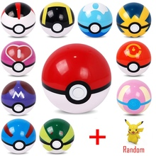 13Colors 1Pcs Pokeball + 1Pcs Free Random Figures Inside Anime Kids Action Figures Poke Ball Toys F003