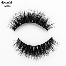 Genailish False Eyelashes Horse Hair Soft Hand Made with Superior Quality Eye Extension for Makeup-EMT035