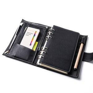Image 4 - Yiwi A6/Persoonlijke A7 Vintage Lederen Travelers Notebook Dagboek Journal Handgemaakte Koeienhuid gift reizen notebook Accessoires