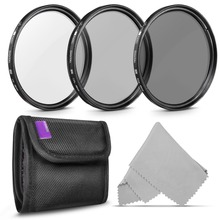 5IN1 kit 49-72mm Photo Professional Photography Filter Kit (UV, CPL Polarizer, Neutral Density ND4) for Cannon Nikon Camera Lens