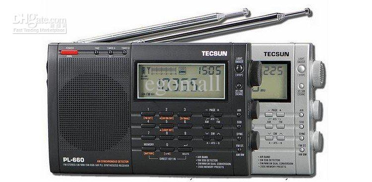 TECSUN PL-660 Radio PLL SSB VHF AIR Band Radio Receiver FM/MW/SW/LW Radio Multiband Dual Conversion TECSUN PL660 tecsun pl 600 digital tuning full band fm mw sw sbb air pll synthesized stereo radio receiver 4xaa