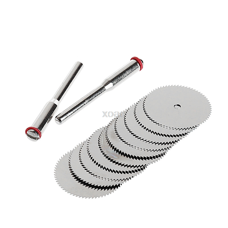 12PCS/SET Wood Saw Blade Disc + 2 X Rod Dremel Rotary Cutting Tool  10 X 25mm Drop Shipping Support   M12 Dropship
