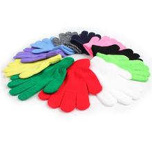 Zimowe rękawiczki dziecięce ciepłe rękawiczki dziecięce dzianinowe dziecięce rękawiczki dla dzieci dziewczęce elastyczne pełne rękawiczki dla noworodków tanie tanio TouchCare Akrylowe Acrylic Cotton ST306+ST302#A7-1024 baby 5 7*13 5CM 15 cm W paski Unisex Children s Mittens Kids Gloves