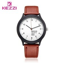 Kezzi Brand Student Watches For Boys Girls Fashion Casual Sport Quartz Analog Leather Band Wristwatches Gifts Waterproof K1425