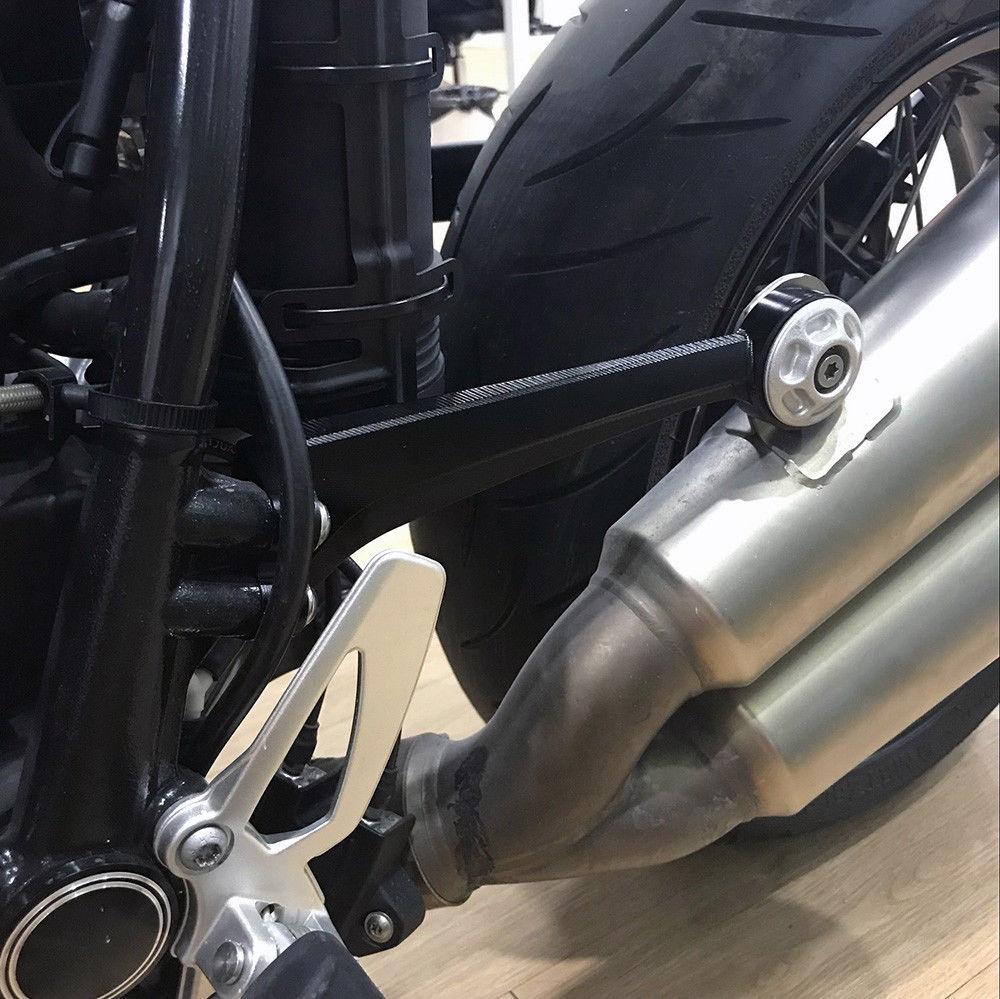 For BMW R Nine T R9T 2014 2015 2016 2017 Muffler Pipe Bracket Mount Holder CNC