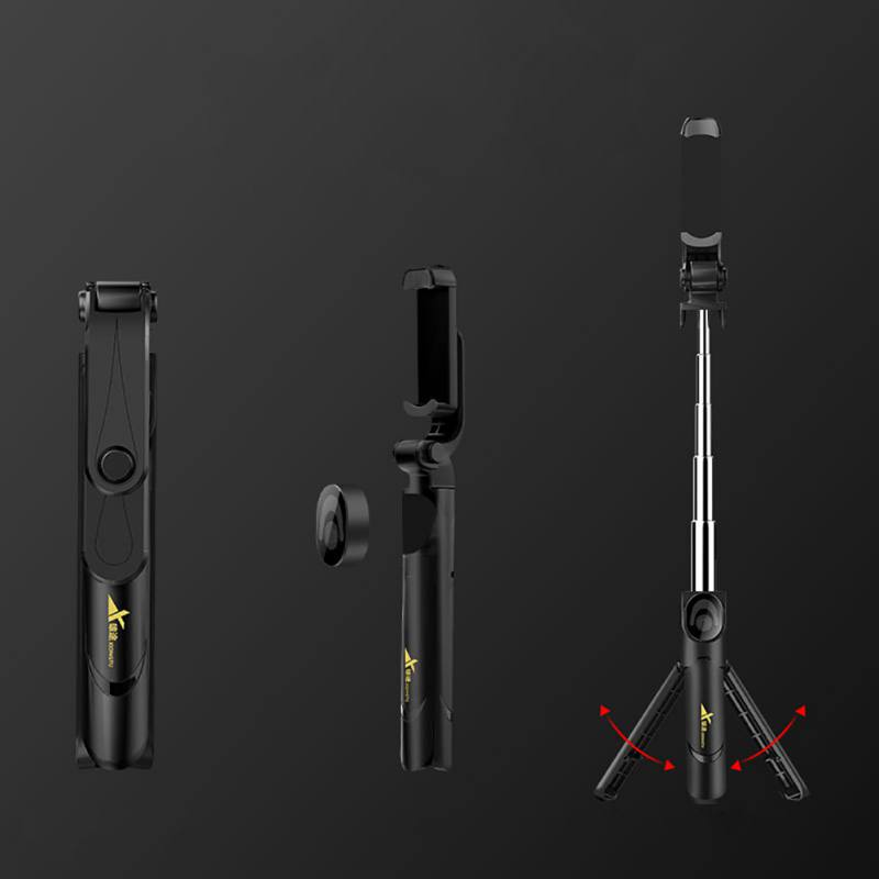 Portable Selfie Stick with Built in Tripod Stand Bluetooth Remote Shutter Selfie Stick Tripods for iPhone Samsung Mobile Phone in Selfie Sticks from Consumer Electronics