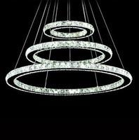 80CM LED Crystal Pendant Light Lamp Fixtures,Silver Modern Luminaire Lustre De Cristal Sala Teto E Pendentes Luz,AC