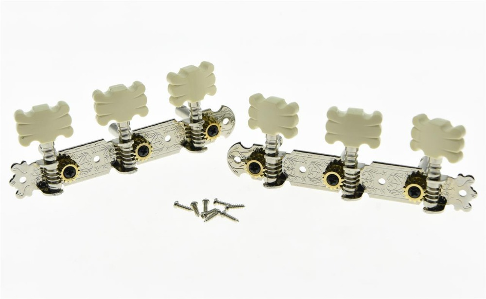 Nickel Classical Guitar Tuners Acoustic Tuning Keys Machine Heads Metal Shafts