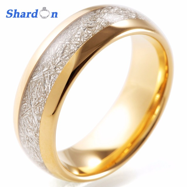 SHARDON Engagement jewelry 8mm Domed Tungsten Wedding Ring Band