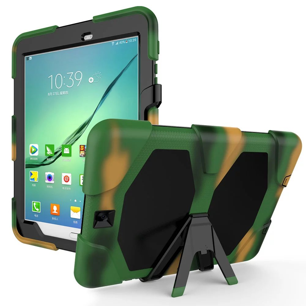 Case Cover For Samsung Galaxy Tab S2 9.7 Case T815 T810 Kickstand Tablet Shockproof Heavy Duty With Stand Shell Case Cover