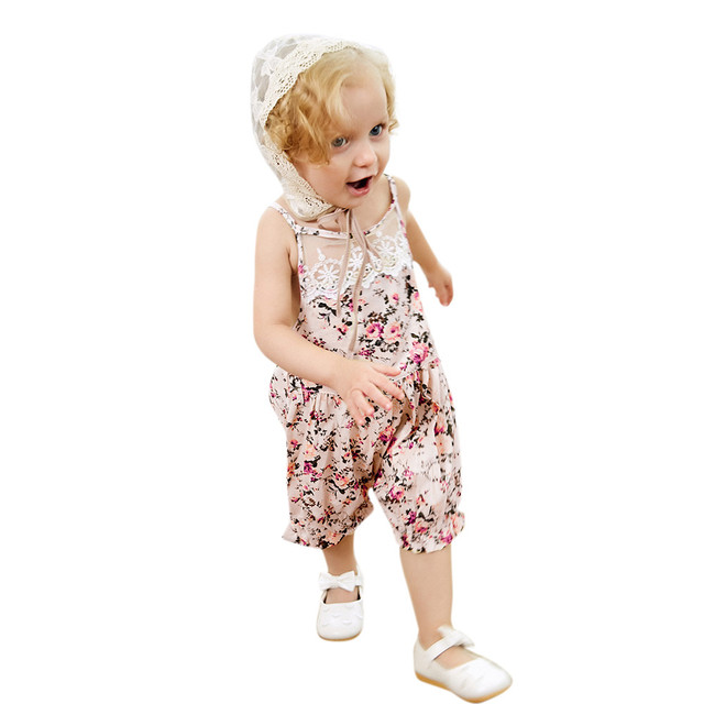 bf90f32c2dc04 ARLONEET 2018 Girl Girls Floral Romper Jumpsuit+Lace Hats Set Outfit Baby  Climbing Clothes 0 to 18 Months Drop Shipping 30S418