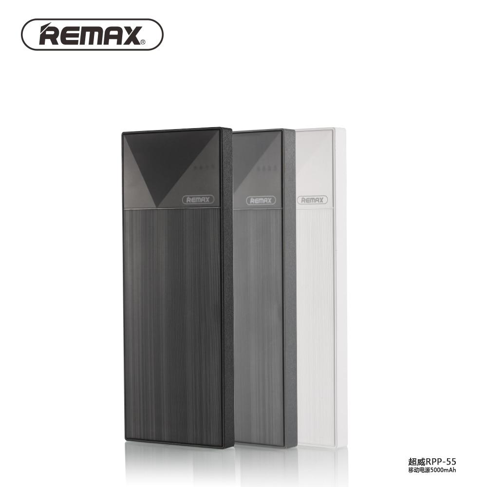 For Iphone <font><b>Smartphones</b></font> <font><b>5000</b></font> <font><b>Mah</b></font> Powerbank Remax RPP-54 5000mAh External Mobile Battery Charger Protable Mobile Phone Power Bank