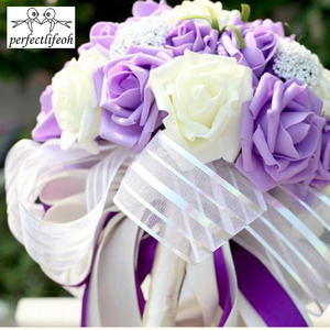 Image 4 - perfectlifeoh Mint Green Artificial flowers Wedding Bridesmaid Bouquets 2016 Romantic Wedding brooch bouquets Wedding Accessies
