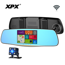 Dash cam XPX ZX827 Rear view camera Car DVR Wifi GPS Full HD Android Detector Parking monitoring Car DVR