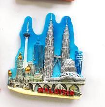 Malaysia Characteristic building Travel fridge stickers