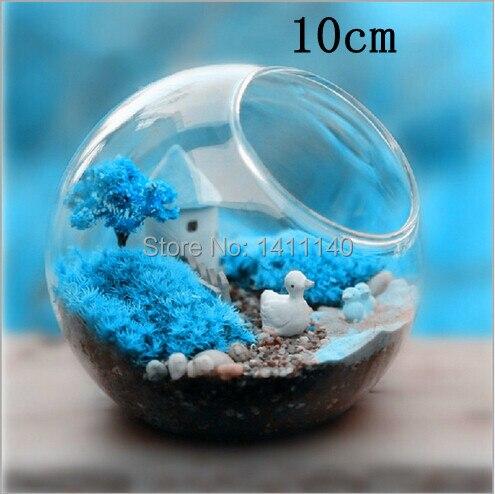 6 Pcs Lot Modern Clear Round Crystal Glass Vase Flower Balls
