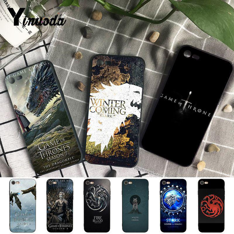 Yinuoda Winter is Coming Luxury Unique Design <font><b>PhoneCase</b></font> for <font><b>iPhone</b></font> X XS MAX 6 6S 7 <font><b>7plus</b></font> 8 8Plus 5 5S XR image