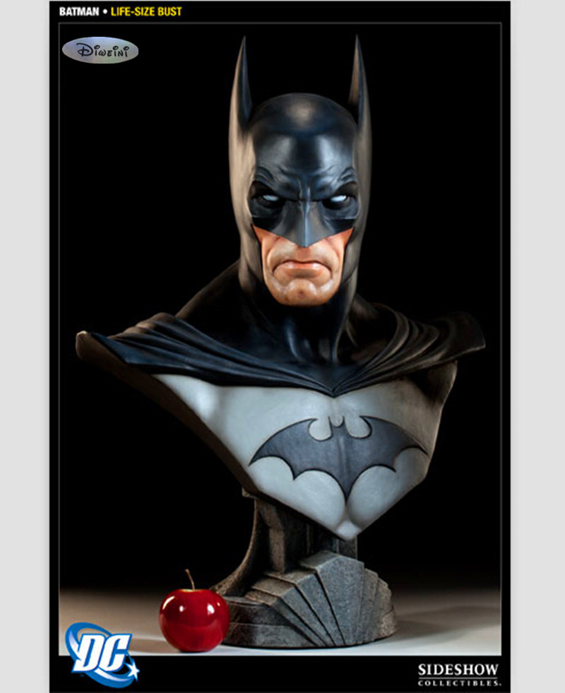 Sideshow The Avengers Batman 1:1 model of the bust The dark knight statue half-length photo or portrait lovers collection WU560 statue avengers captain america 3 civil war iron man tony stark 1 2 bust mk33 half length photo or portrait with led light w216