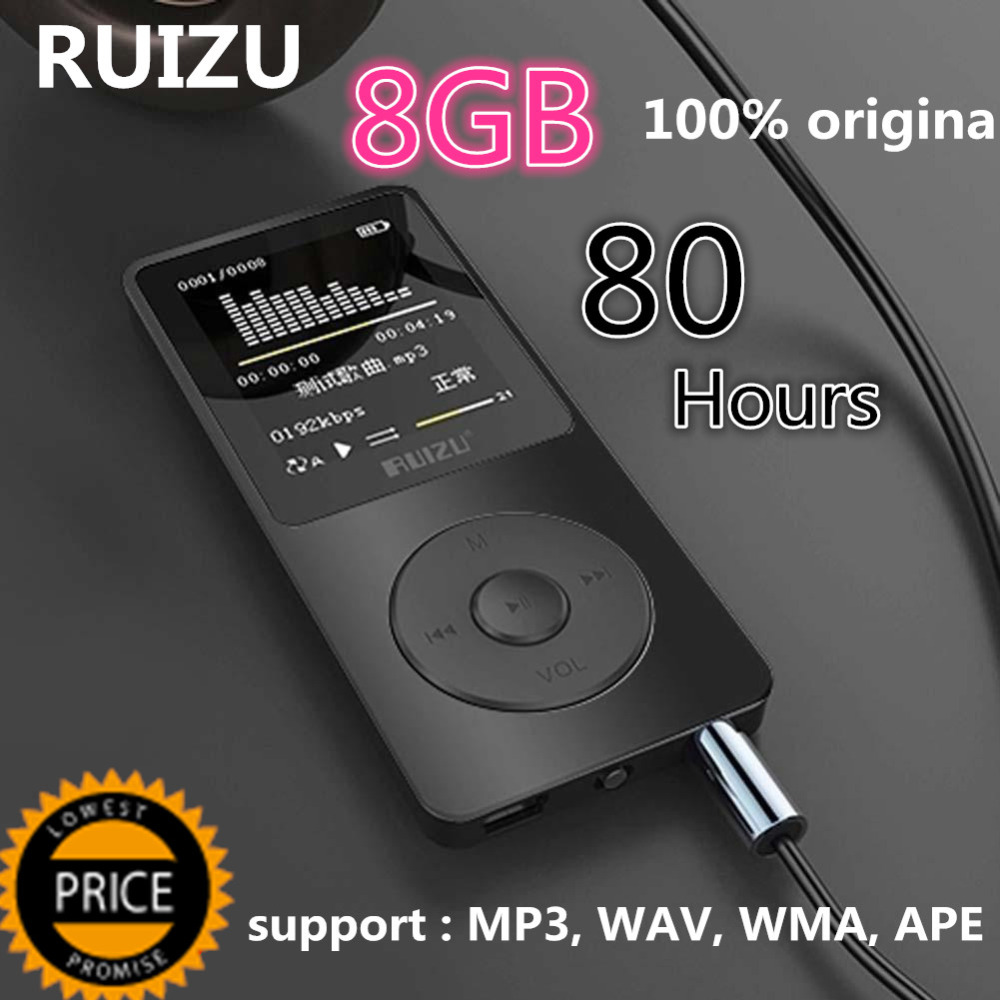 Original RuiZu X02 1.8 TFT Screen HiFi Sport Music Mp3 Player Mini Portable Lossless Digital Music Mp3 Player 8gb With FM Clock 2016 new style mini mp3 player sport hifi lossless music player 16gb hot sales for mobile phone pc tablet