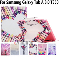 Fashion Painted Cases For Samsung Galaxy Tab A 8 0 Case Stand Card Slot Buckle Tablet