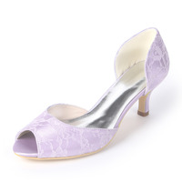 Creativesugar elegant lace D'orsay lady low heel pumps fresh color bridal wedding prom cocktail dress shoes mint green lavender