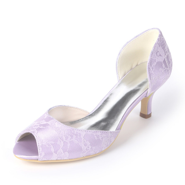 bb2a6ed08c US $35.91 10% OFF|Creativesugar elegant lace D'orsay lady low heel pumps  fresh color bridal wedding prom cocktail dress shoes mint green lavender-in  ...