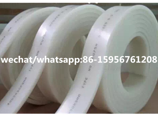 FREE shipping  White 50mm 9mm 4000mm Screen Printing Flat Squeegee Rubber Blade 70A Durometer
