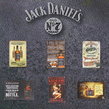 Jack Daniels Old NO 7 Brand Whiskey signs Vintage Tin Metal signs Beer Bar Cafe Pub Home Decor Craft Wall Painting