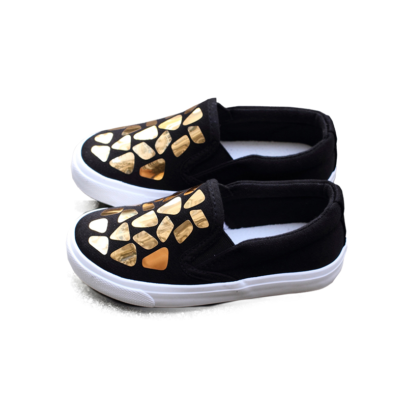 Maggies Walke Children Canvas shoes spring and autumn lighted slip-on little Boys and Girls Beautiful Simple Casual shoes