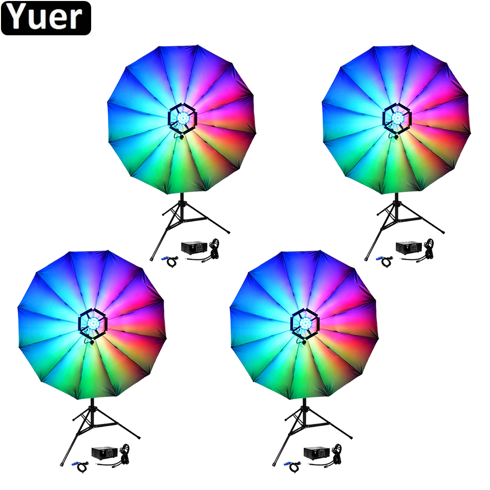 4Pcs/Lot 2019 New Decorate Lamp 25inch LED Magic Blumen Light Club Disco DJ Party Bar KTV Wedding Christmas Music Stage Light