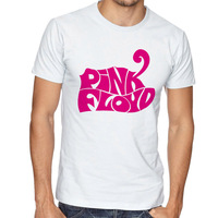 פינק פלויד רוק חולצה גברים חולצות הגדולה קיר מוסיקה בנד Hombre Camisetas שרוול קצר כותנה לבנה בקיץ פסיכדלי Tees