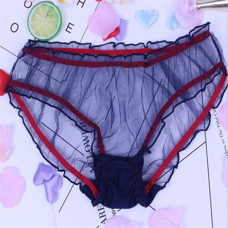 2018 Women Underpants Hot Sale Ladies Mesh Transparent Sexy Ladies Underwear Free Size Female Lace Briefs Fashion Panties