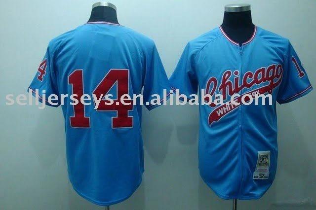 Chicago white sox #14 Paul Konerko Authentic blue M&N Baseball jersey, Sports jerseys Free shipping accept PayPal Dropship