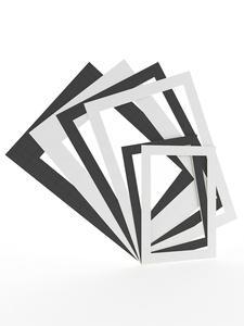 Picture-Frames Mounts Photo-Mats Paperboard Textured-Surface Passe-Partouts White/black