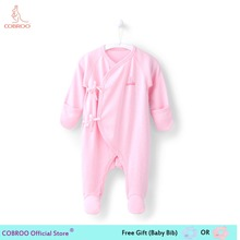 Newborn Baby Girl Clothes 100% Cotton Long-sleeve 2018 Spring 0 3 Month Infant Clothes Baby Girl Boy Jumpsuit Footies 450005 salepicturesque childhood 2018 newborn baby boy clothes cotton long sleeve baby boy footies stripe sailing shark print blue