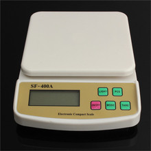 Küche Digitalwaage für den Hausgebrauch 7 kg/1g tragbare Backen elektronische Waage Waage LCD Display mit Hintergrundbeleuchtung