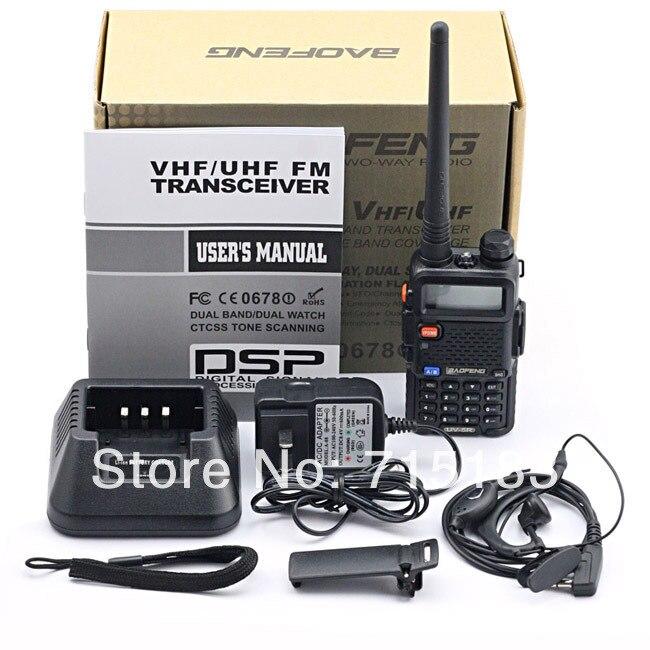 Original BAOFENG UV 5R VHF136-174MHz& UHF 400-520MHz Dual Band 5W FM VOX Two-way Radio Free Baofeng UV-5R walkie talkie for car