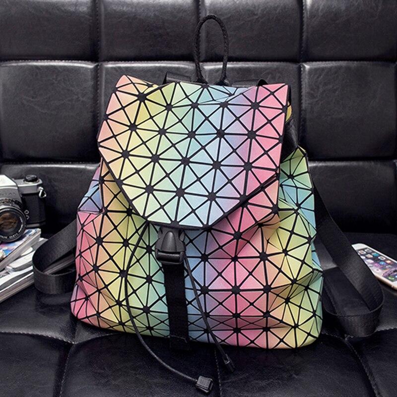 ФОТО Multi color matte discoloration backpack laser bag teen backpack bags designer 2017 new products back pack bag,best gift option