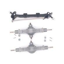 Qin24 1/24 RC Heavy Truck Metal frontal media y diferencial trasero Bridge Set Parts
