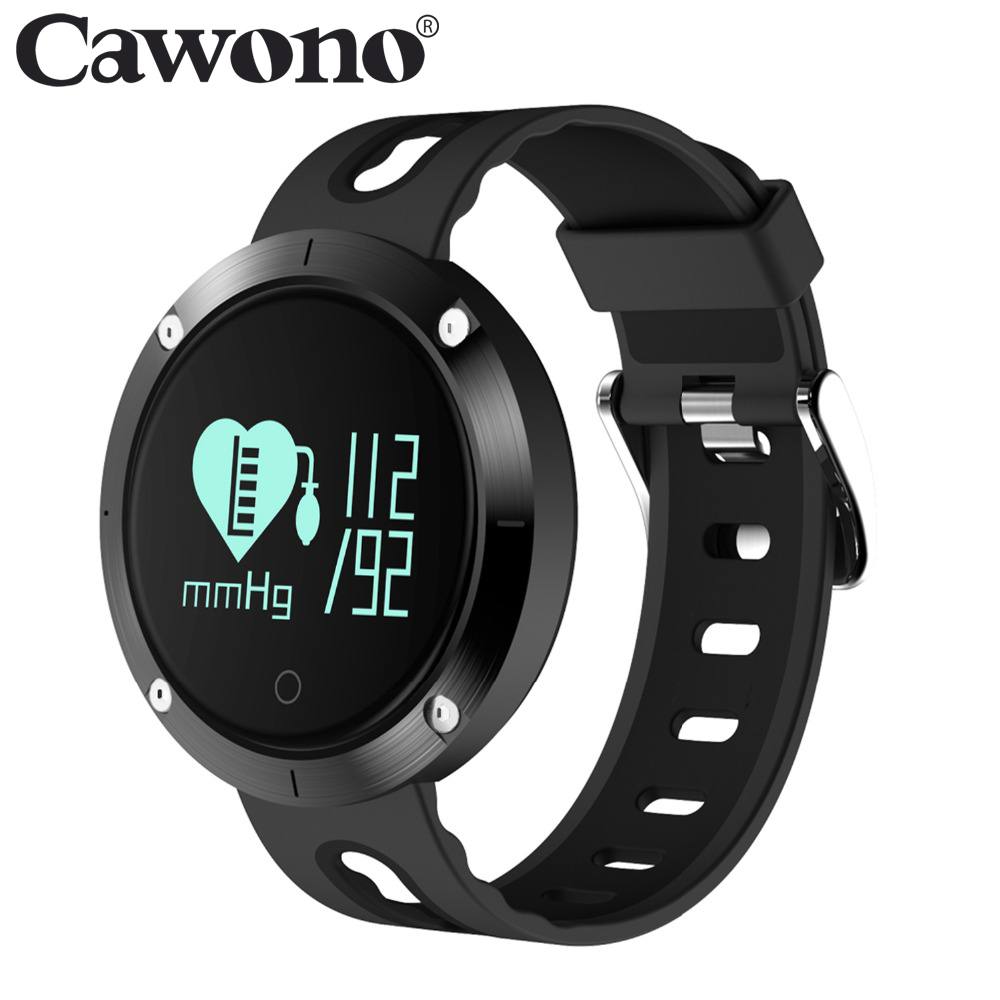 Cawono IP68 Waterproof DM58 Smart Band Fitness Tracker Smart Wristband Blood Pressure Heart Rate Monitor Bracelet for Smartphone