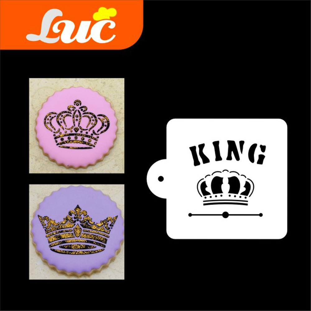 ᐂLuc plantillas gran tamaño 9 pastel stencil set plantilla rey ...