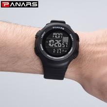 PANARS Sports Watches Men Big Dial Outdoor Watch Digital Waterproof Countdown Chronograph Wristwatch Mens Clock para hombre