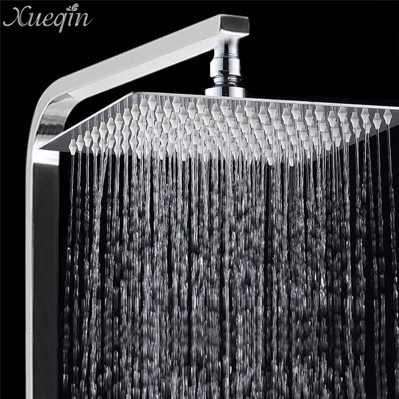 1 Pcs Mrosaa Bath Shower Rainfall Sprayer 304 Stainless Steel Square & Round Shower Head High Pressure Bathroom Top Spray Head
