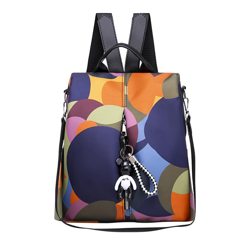 Women Backpack Schoolbags Cloth Shoulder-Bag Teenager Anti-Theft Girls Colorful Casual