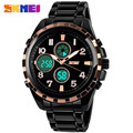Men Chronograph Quartz Watch For Man Luxury Brand Luminous Business Watch Outdoor Sports Stainless Steel Wristwatch SKMEI 1021