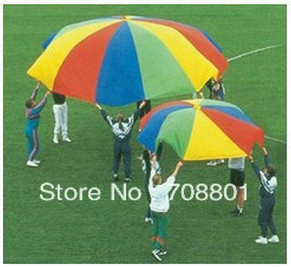 7M/8M/9M/10M Diameter Outdoor Rainbow Umbrella Parachute Toy Jump-Sack Ballute Play For Kids m