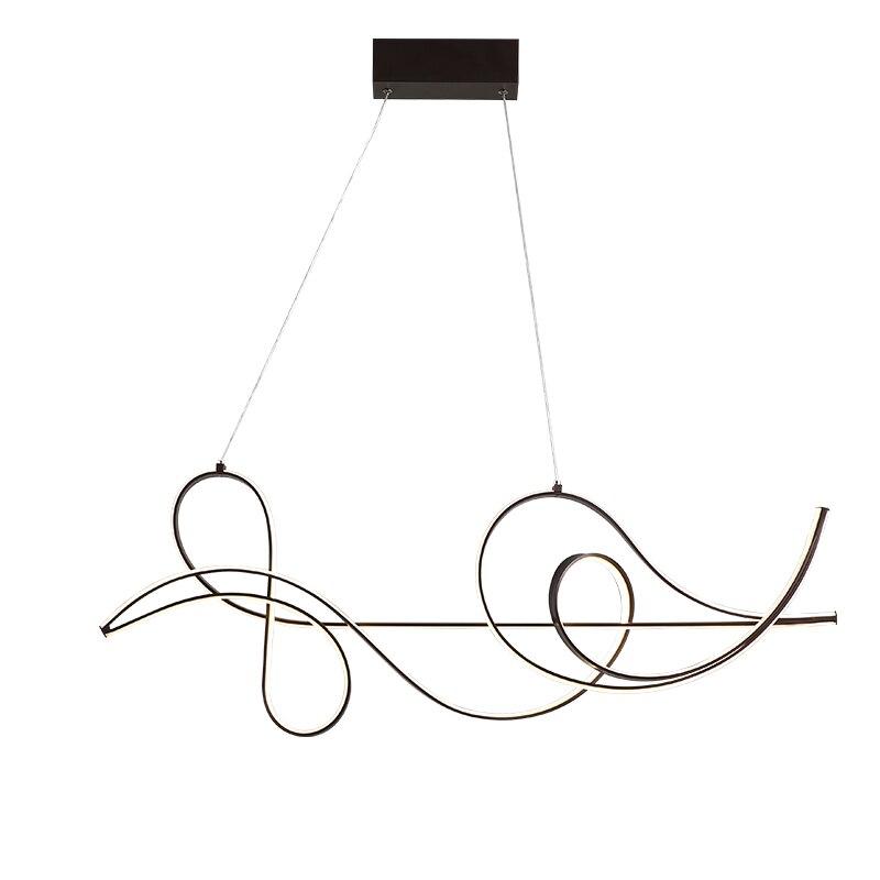 Image 5 - Acabamento de café lâmpada pendurada moderna led lustre para cama  sala jantar cozinha luminária suspensão pingente lumináriaLustres   -