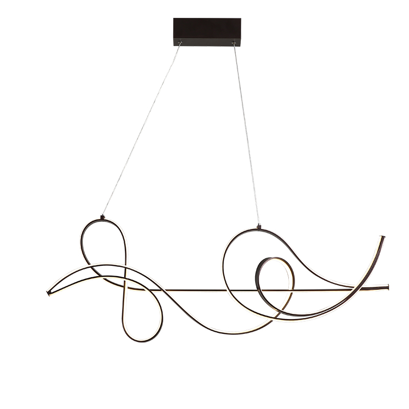 Image 5 - Coffee Finish Hanging lamp Modern Led Chandelier For bed Dining room kitchen suspension luminaire Pendant Chandelier Fixture-in Chandeliers from Lights & Lighting