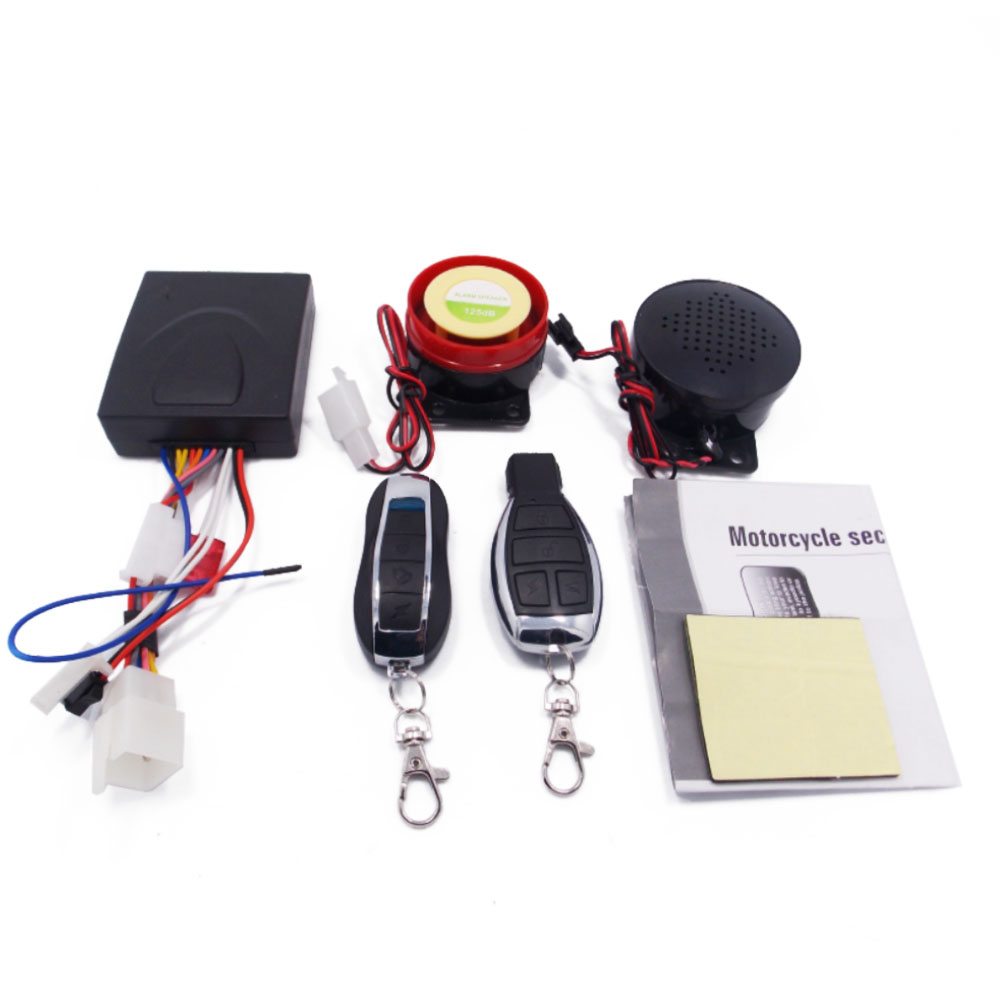 Motorcycle Anti-theft Security Alarm System With Dual Remote Control DC 12V Motorbike Bike Moto Scooter Motor Alarm Engine Start